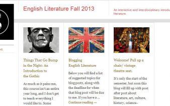 Class Blog Screen Cap