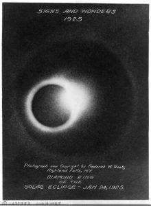 1925 Solar Eclipse by Frederick W. Goetz